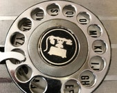 Old Metal and Plastic Personal Telephone Directory, Rotary Dial Motif, Movie Set Prop, 1960 39 s Theater Play Prop, Funky Used Phone Directory