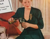 Movie Star Ad, Product Placement 1940 39 s Royal Crown Cola Ad, Stunning Irene Dunn, Old Time Movie Star, R.C. Ad 1942, Retro Decor, 3 42