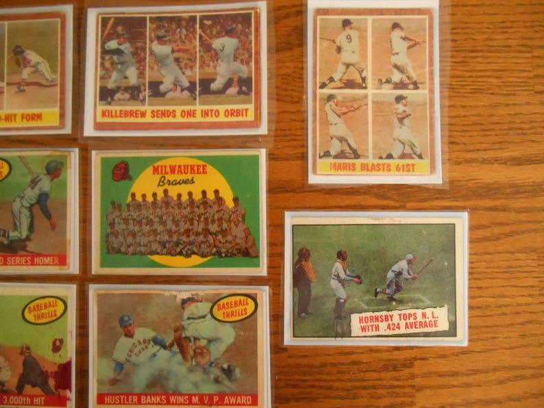 Includes Musial Baseball Cards Large Sized Copies for Bulletin Board Ships Free Library Display Aaron Killebrew Maris Spahn Etc.