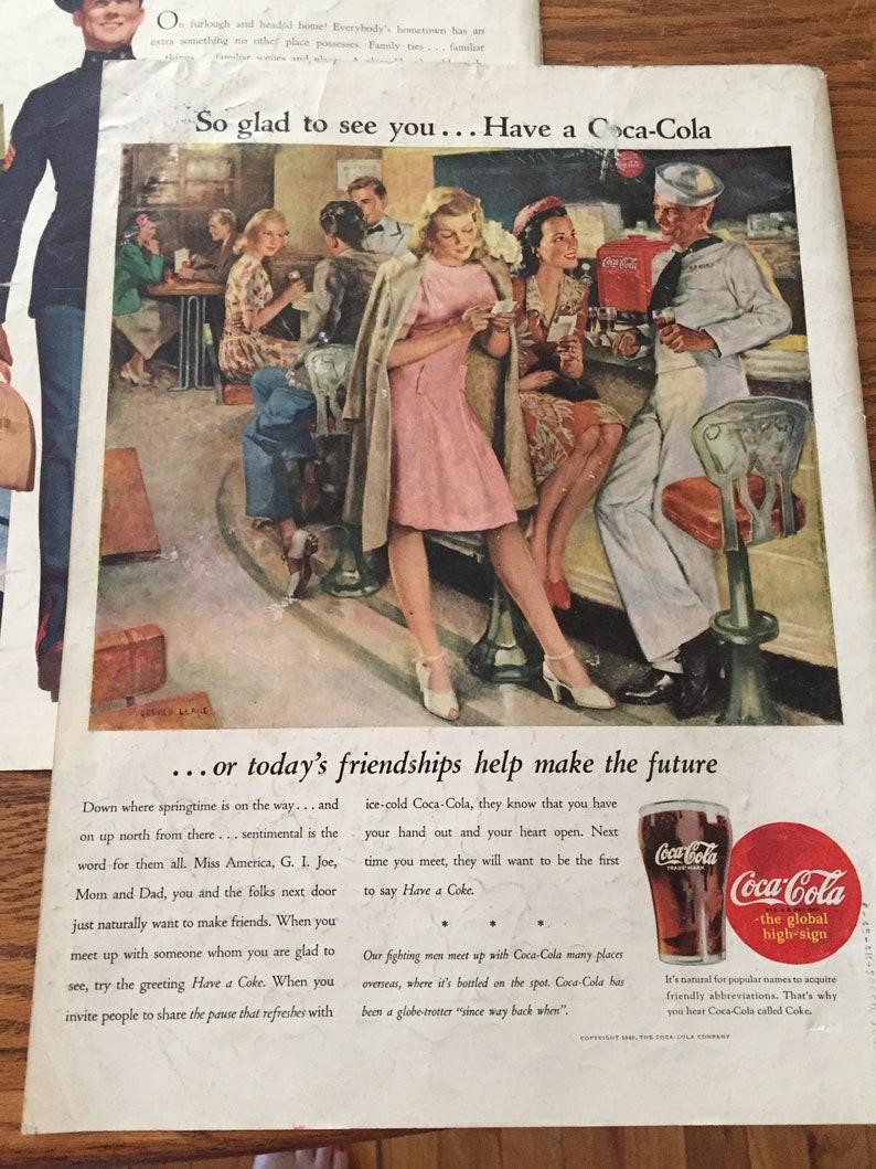 World War Original Coca Cola Ads, America at War 40's Coke Ads, Classic  Coke Ads, Set of 5 Coke Ads Featuring Servicemen, Coca Cola at War