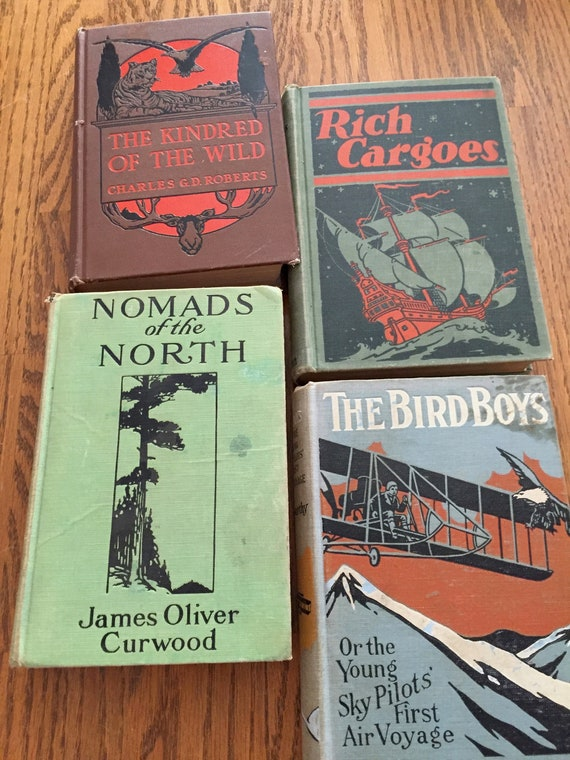 Old Adventure Books For Mantel Book Case Coffee Table Old Fashioned Decor Man Cave Books Shabby Men S Decor Smoking Port Books