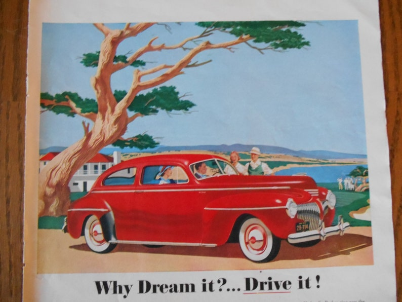 Advertising Original 1941 Print Ad Desoto De Soto Auto Vintage Art Sedan 6 Passenger Deluxe Fine Quality Merchandise & Memorabilia