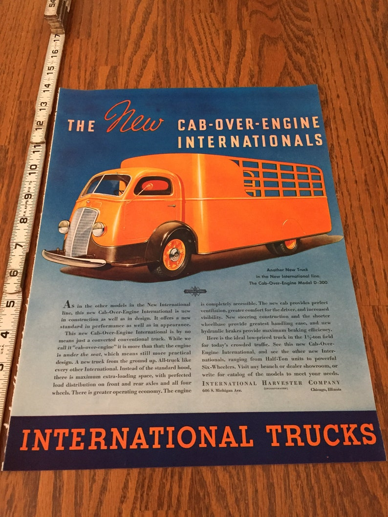 2ca69aa789 Cab-Over-Engine Vintage International Truck Ad Life Magazine