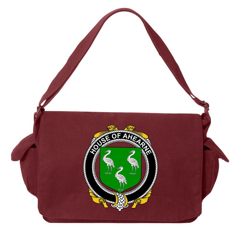 Irish House Heraldry Ahearne Canvas Bag Design-15269