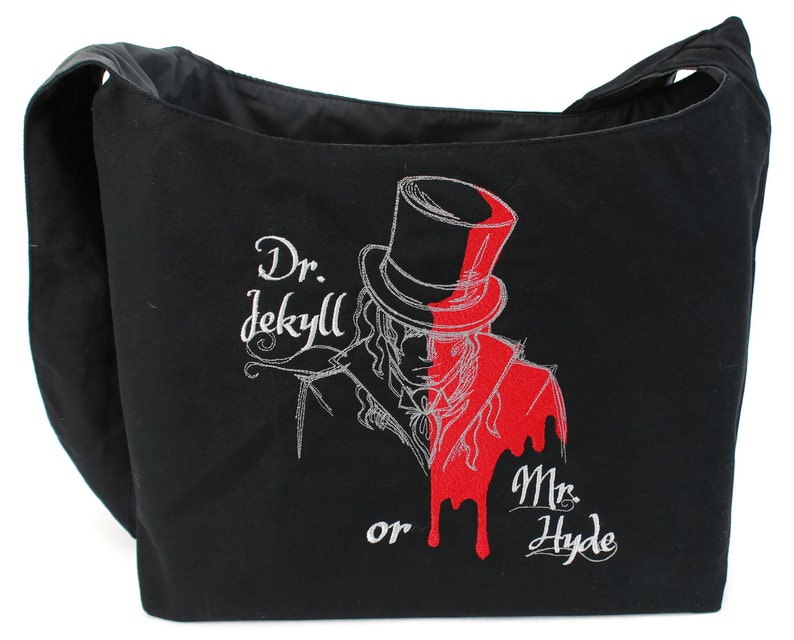 Jekyll and Mr Dr Hyde Embroidered Sling Bag