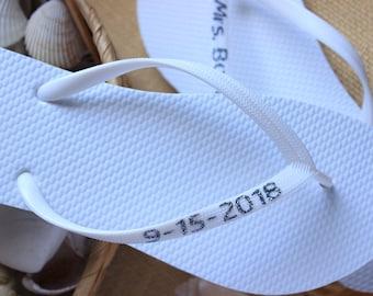 c2cf730108fd3d Personalized FLIP FLOPS Bridal sandals