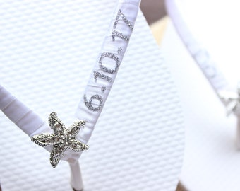 29ecbc11e9bc3d White flip flops Starfish bridal shower decor