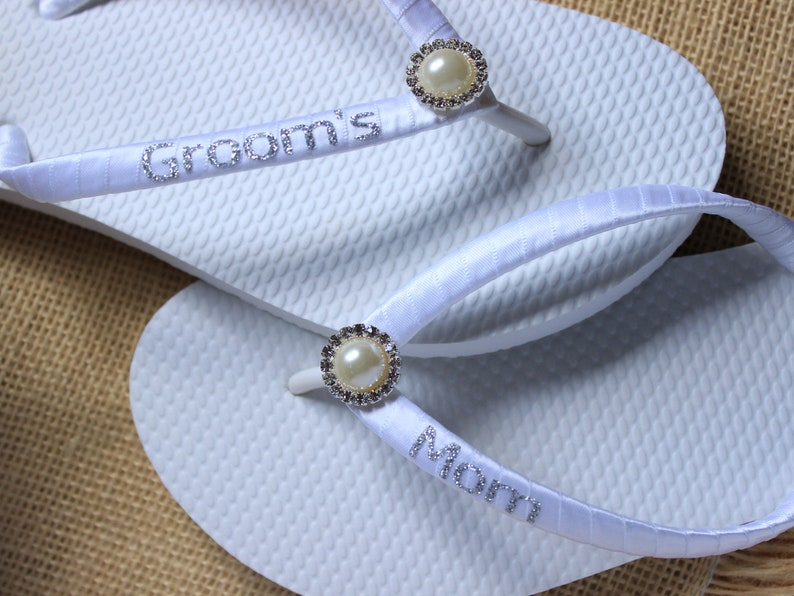 975c6edc5f52 Mother of the Groom gift Flip Flops Personalized Mother