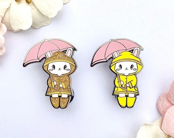 SALE Minor Defects and Seconds Raincoat Bunny Hard Enamel Pin