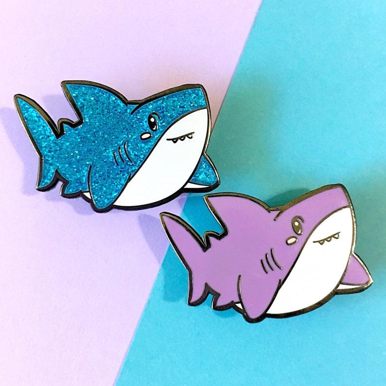 ee279d45d655df LIMITED EDITION Chunky Shark Hard Enamel Pin | Etsy