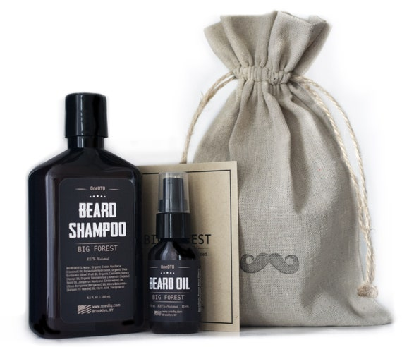 Beard Care Kit  Beard Shampoo & Beard oil  Promotes Beard Growth, Stops  Itching, Keeps Beard Smooth  Packaged in a rugged gift bag