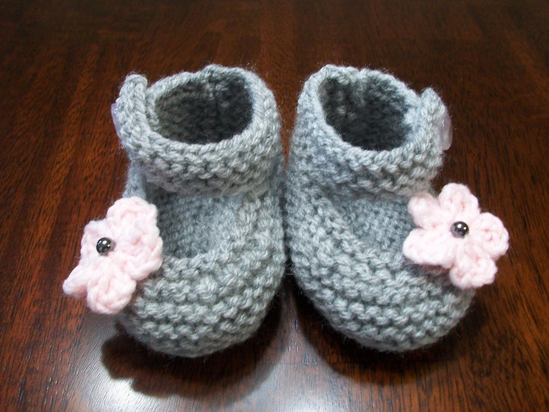 3845a44f3 Gray Baby Booties Gray Baby Shoes Gray Baby Girl Shoes Gray