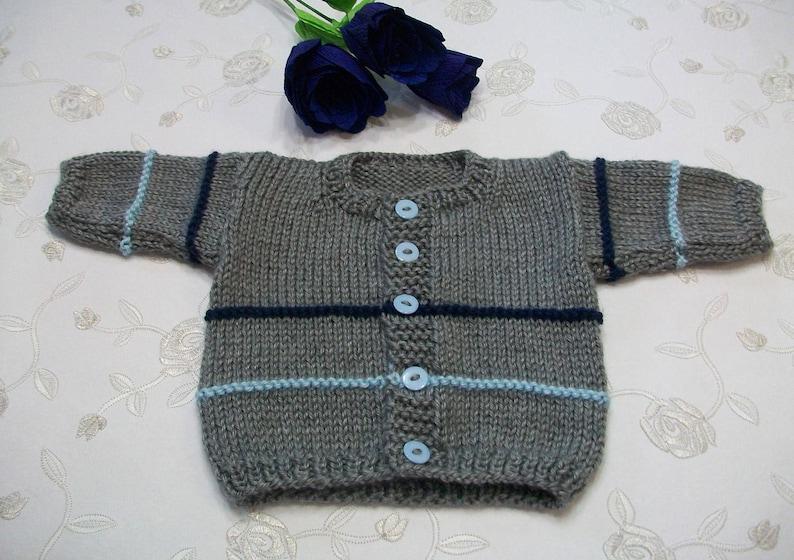 0023d2ebd Newborn Cardigan 0 to 3 Months Gray Baby Sweater Gray