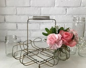 Vintage Wire Drinking Glass Caddy, Vintage Drink Holder, Vintage Metal Drinking Glass Caddy,Mid-Century Glass Holder, Metal Wire Glass Caddy