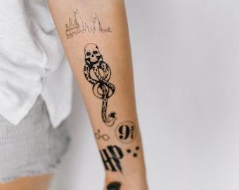 6 HP Temporary Tattoos - SmashTat