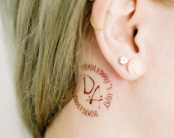 2 Dumbledore's Army Temporary Tattoos- SmashTat