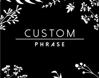 2 Custom Names, Quotes, or Scripture Tattoos -SmashTat