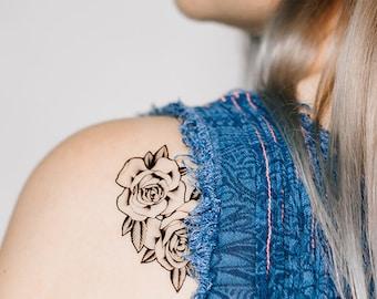 2 Rose Temporary Tattoos- SmashTat