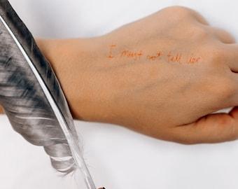 2 I Must Not Tell Lies Temporary Tattoos- SmashTat