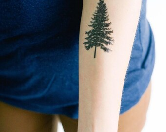 2 Pine Tree Temporary Tattoos- SmashTat
