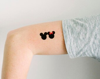 Minnie Mouse Tattoo Etsy
