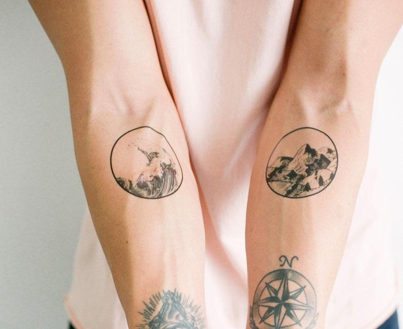2 Nature Temporary Tattoos SmashTat image 0