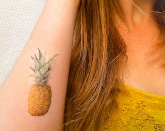2 Pineapple Temporary Tattoos- SmashTat