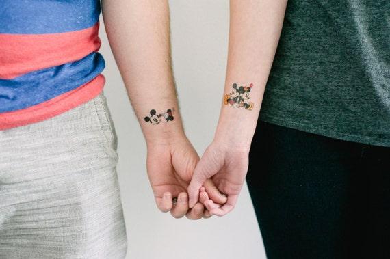 Mickey And Minnie Temporary Tattoos Smashtat Etsy