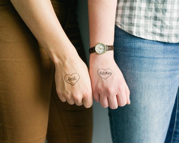 2 Sets Best Bitches Temporary Tattoos Smashtat