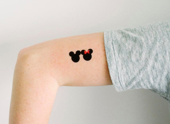 3 Mickey And Minnie Temporary Tattoos Smashtat Etsy