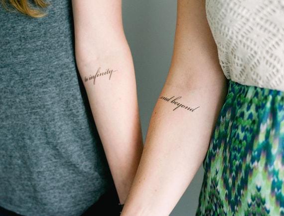 2 infinity and beyond temporary tattoos smashtat | etsy