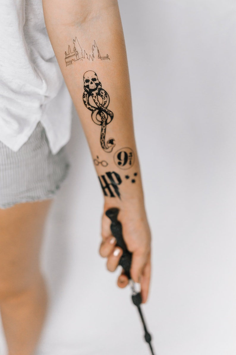 6 HP Temporary Tattoos  SmashTat image 0