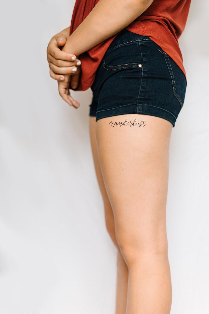 2 Wanderlust Temporary Tattoos SmashTat image 0