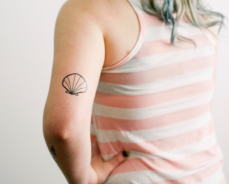 2 Seashell Temporary Tattoos  SmashTat image 0