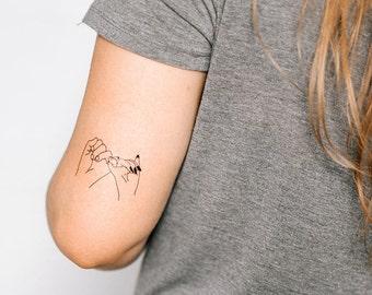 2 Pinky Promise Temporary Tattoos- SmashTat