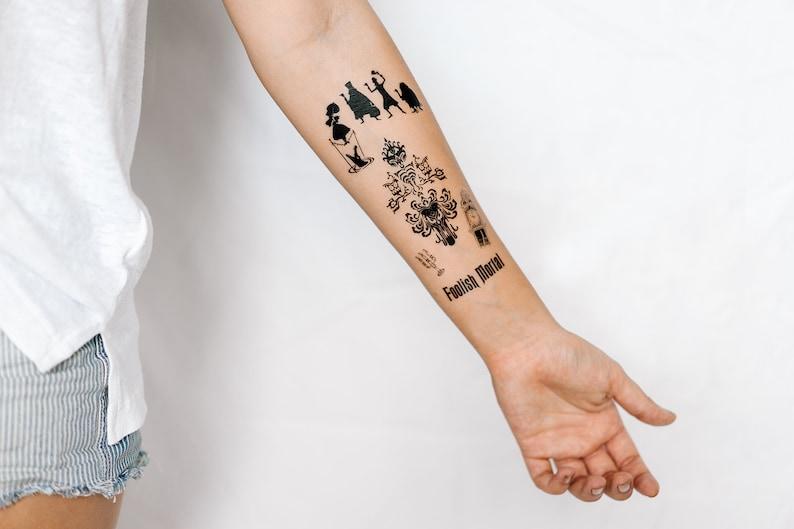 44dcd229b Haunted Mansion Set of Temporary Tattoos SmashTat | Etsy