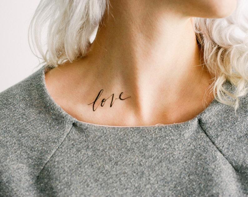 2 Dainty Love Temporary Tattoos SmashTat image 0
