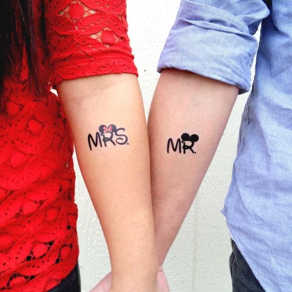 M Et Mme Disney Temporaire Tatouage Smashtat Etsy