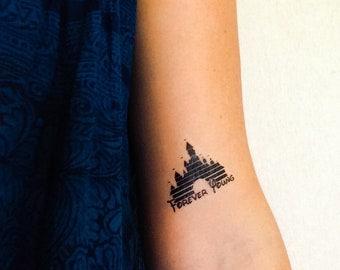 2 Disney Castle Temporary Tattoos- SmashTat