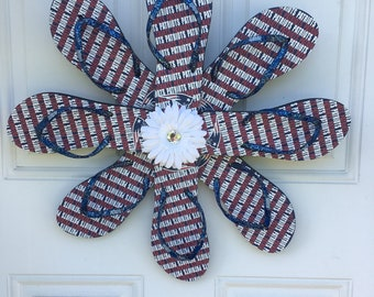 New England Patriots flip flop wreath