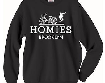 f3e59705c Homies Brooklyn Inspired Logo In Famous Parody Sweatshirts, Homies hoodie  gift, Brooklyn sweatshirt gift, Brooklyn gift, Hermes Sweatshirt.