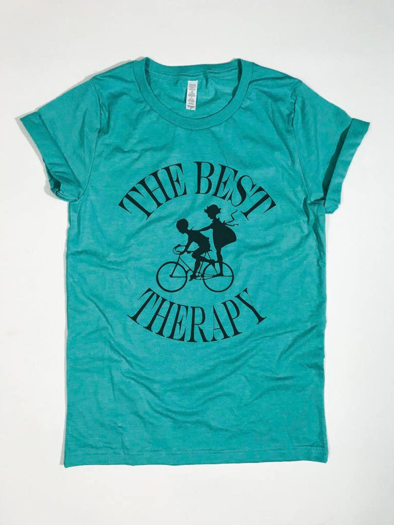 0a20cc8923 BTF The Best Therapy Bike Couple Unique Funny Graphic Tee | Etsy