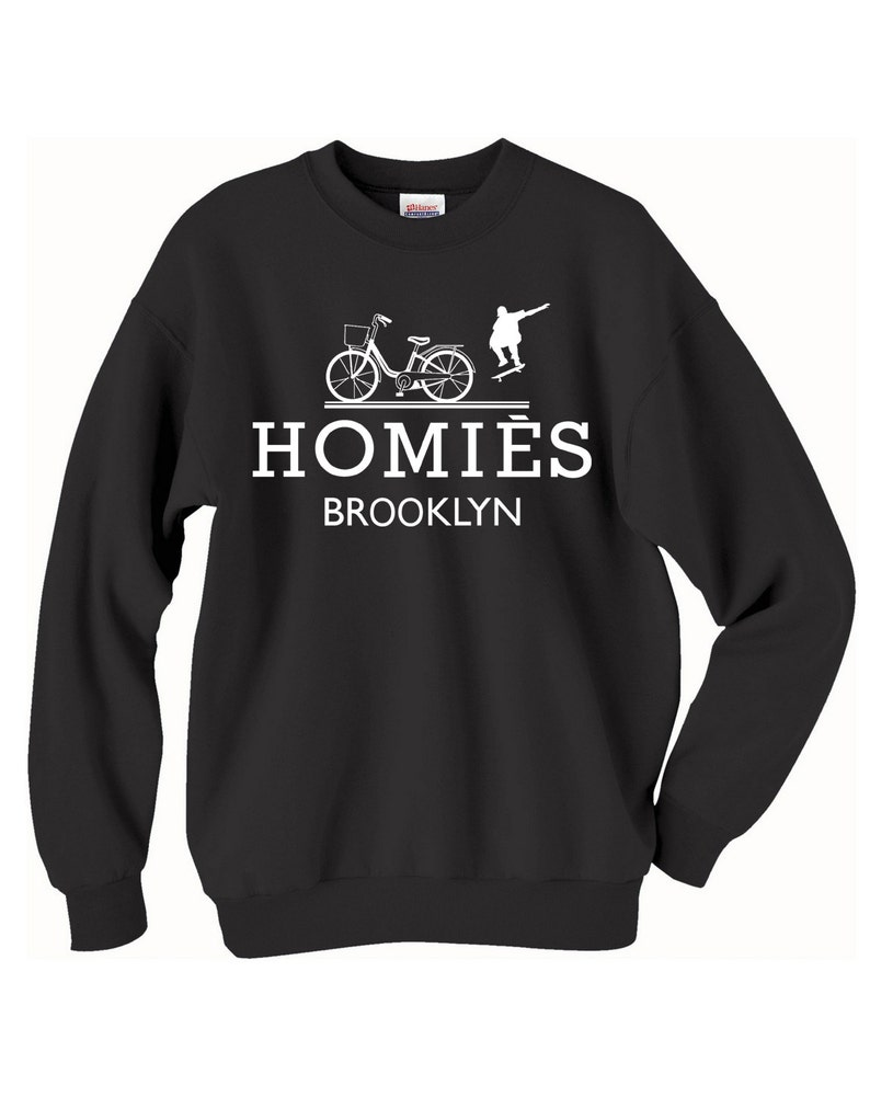 c3eee0a40 Homies Brooklyn Inspired Logo In Famous Parody Sweatshirts | Etsy