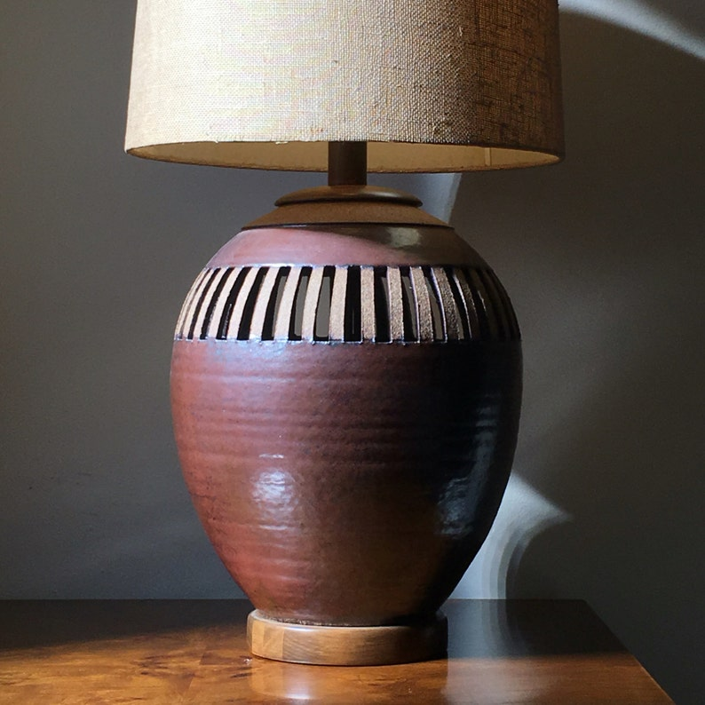 Hand thrown pottery lamp by Brent Bennet