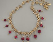 Ruby and Gold Necklace...