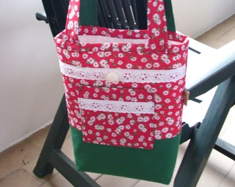Daily bag everyday bag tote bag handbag shopping bag cotton tote cotton bag fabric tote fabric bag flower tote girls handbag replacement