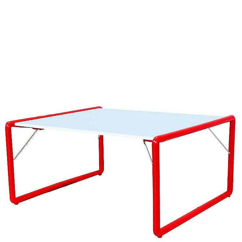 White Top / Red Frame Folding Kids Table. Fits Our Jr. Director Chair. Also  For The Entire Family  Strange As That May Sound.