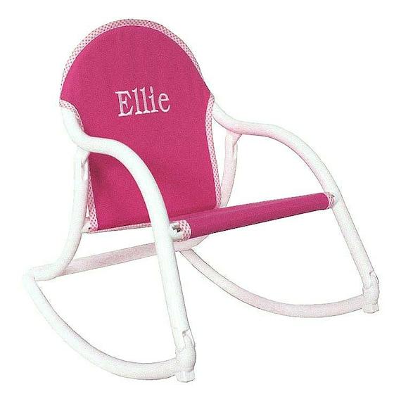 Pink Canvas Personalized Childrensu0027 Rocking Chair