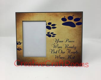Pet Memorial Frame Your Wings Were Ready Quote But My Heart Etsy