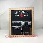 Custom My First Day Of School Sign, Ruler Framed First Day of School Chalkboard, Reusable Chalk Sign, Back To School Sign,
